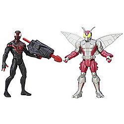 Marvel Ultimate Spider-Man Sinister 6 Two Figure Battle Pack - Kid Arachnid vs. Beetle