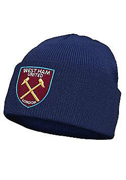 West Ham United FC Kids Knitted Hat - Navy