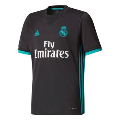 adidas Real Madrid 2017/18 Kids Away Football Jersey Shirt Black - 15-16 Years
