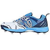 Kookaburra Pro 770 Mens Adult Cricket Shoe Spike White/ Blue - White