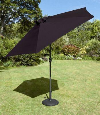 Europa Leisure Tuscany Parasol in Black - 270 cm