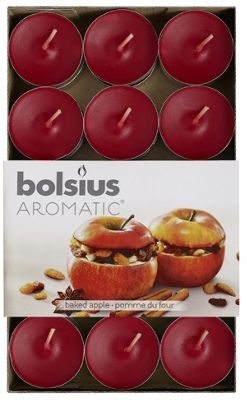 Bolsius Pack of 30 Baked Apple Tealights