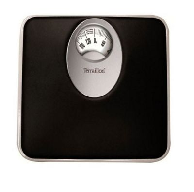 Terraillon Mechanical Bathroom Scale - Magnified Display - Black