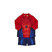 Marvel Spider-Man UPF 50+ Rash Vest and Shorts Set - Red & Blue