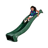2.3m Green Wavy Slide with Hose Nozzle for a 1.2m High Platform