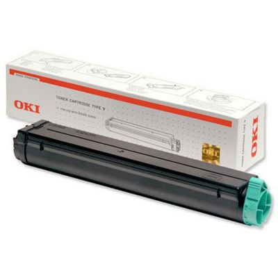 OKI Type 9 Toner Cartridge for B4000 Series Mono Printers (Black)