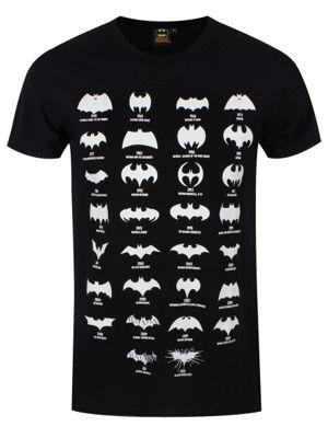 DC Comics Batman Logo Evolution Men's Black T-shirt