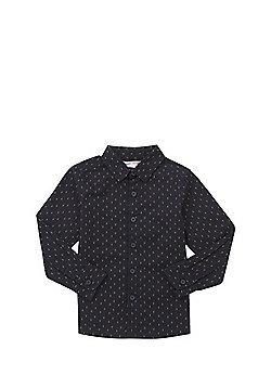 Minoti Dash Print Shirt - Navy