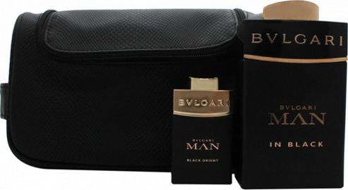Bvlgari Man In Black Gift Set 100ml EDP + Orient 15ml EDP + Pouch For Men