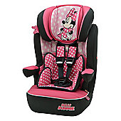 Disney Imax SP High Back Booster Car Seat with harness Group 1,2,3 Minnie Mouse