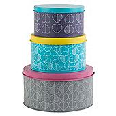 Beau & Elliot Confetti Outline Round Storage Tins, Set of 3