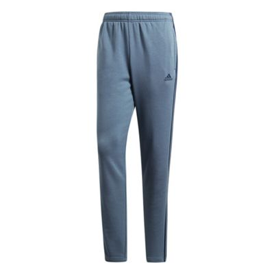 adidas Essential 3 Stripe Mens Tapered Tracksuit Pant Trouser Blue - XL