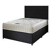 Happy Beds Ortho Royale Mattress Divan Bed Set Plain Headboard Black