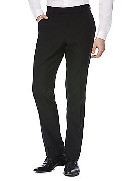 F&F Regular Fit Suit Trousers - Black