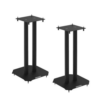 Duronic SPS1022-40 Twin Loudspeaker Stand 40cm Metal Base | Home | Cinema | Loud Speaker Stands - Black - Set of 2