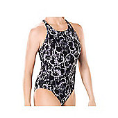 Maru Spinner Etro Back Swimsuit - Black/White - Black