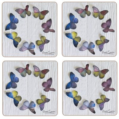 iStyle Pretty Butterflies Coasters Set of 4