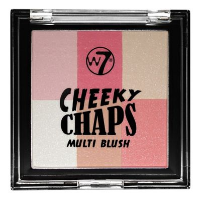 W7 Cheeky Chaps Multi Blush Compact Blusher-Hot Gossip
