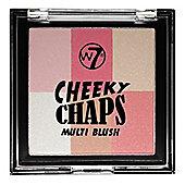 W7 Cheeky Chaps Multi Blush Compact Blusher-Hot Gossip