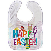 Dirty Fingers, Happy Easter, Baby Unisex feeding Bib with Subli Print