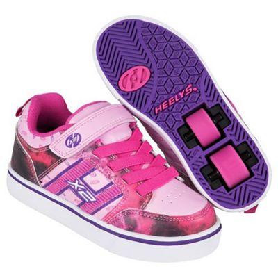 Heelys Bolt Pink/Purple/Space Kids Heely Shoe JNR 12