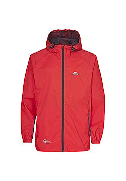 Trespass Boys Qikpac Waterproof Packaway Jacket - Red