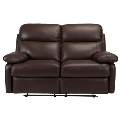 Cordova Leather Small Recliner Sofa Chocolate