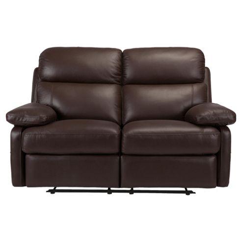Cordova Leather Small Recliner Sofa Chocolate