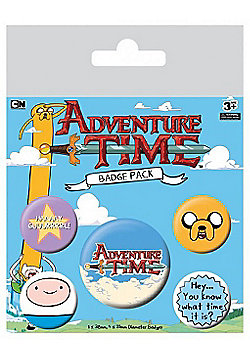Adventure Time What Time Is It? - AT Badge Pack 10x12.5cm - Multi