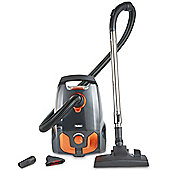 VonHaus Bagged Cylinder Vacuum Cleaner 1400W - 2.5L Compact Vac with Powerful Suction