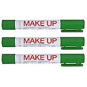 Playcolor Basic Make Up Pocket 5g Face Paint Stick (Pack of 3 - Green)