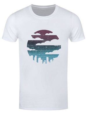 Cityscape With Clouds Men's T-shirt, White