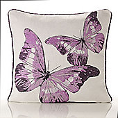 Alan Symonds Tapestry Flutterby Lilac Cushion Cover - 45x45cm