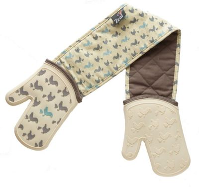 Zeal Steam Stop Silicone Waterproof Oven Gloves, Hen Design V128HEN