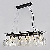 Designer Style Eight Way Wine Glass Rack Ceiling Light Fitting