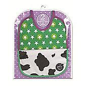 Feederz Bibs (2 Pack) Star Bright & Cow Print