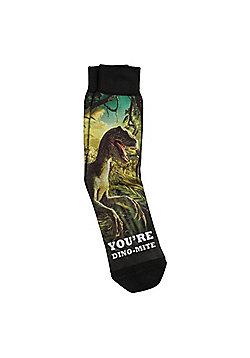 F&F You're Dino-Mite Slogan Ankle Socks - Multi