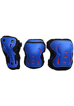 SFR Essentials Triple Pad Set - Blue / Black / Red - Medium (age 7-9)