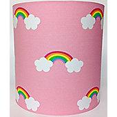 Pink Rainbow Fabric Light Shade