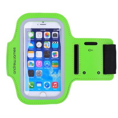 Andrew James Armband Smartphone Holder for Jogging - Running & Exercise - Large - Green