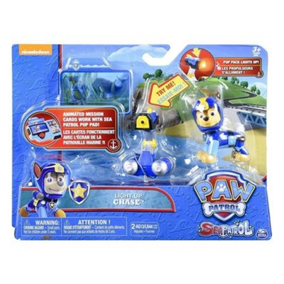 Paw Patrol Sea Patrol - Light Up With Pup Pack And Mission Card (Chase)