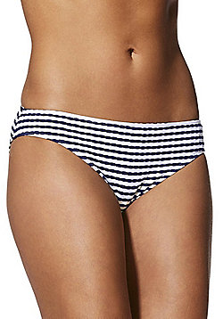 F&F Textured Stripe Bikini Briefs - Navy