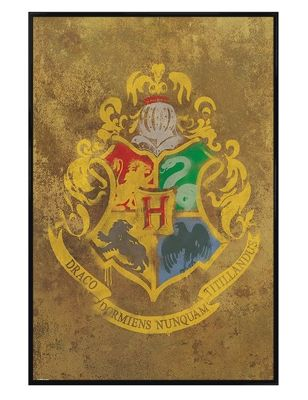 Gloss Black Framed Harry Potter Hogwarts Crest Poster