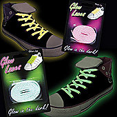 Glow In The Dark Shoe Laces Pink
