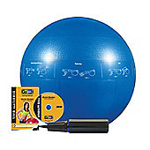 GoFit Professional Core Stability Ball with Training DVD (Blue) - 55cm