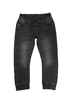 F&F Loppback Jogger Jeans - Washed black
