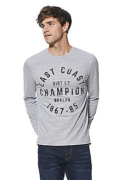 F&F East Coast Logo Long Sleeve T-Shirt - Grey