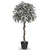 130cm Flocked Ball Pine Artificial Christmas Tree
