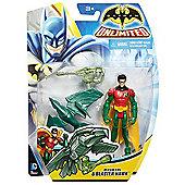 Batman Unlimited Figure - Robin and Blaster Hawk