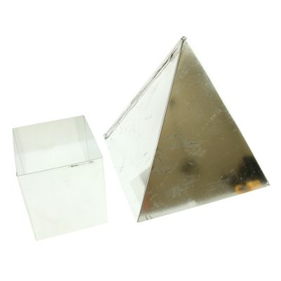 Metal Candle Mould - Pyramid 150mm
